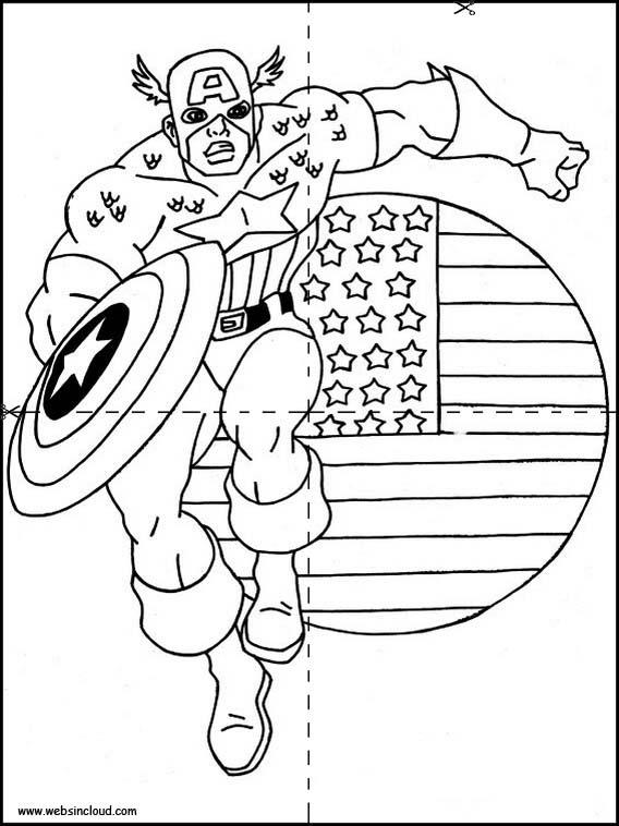 captain america schild zum ausmalen