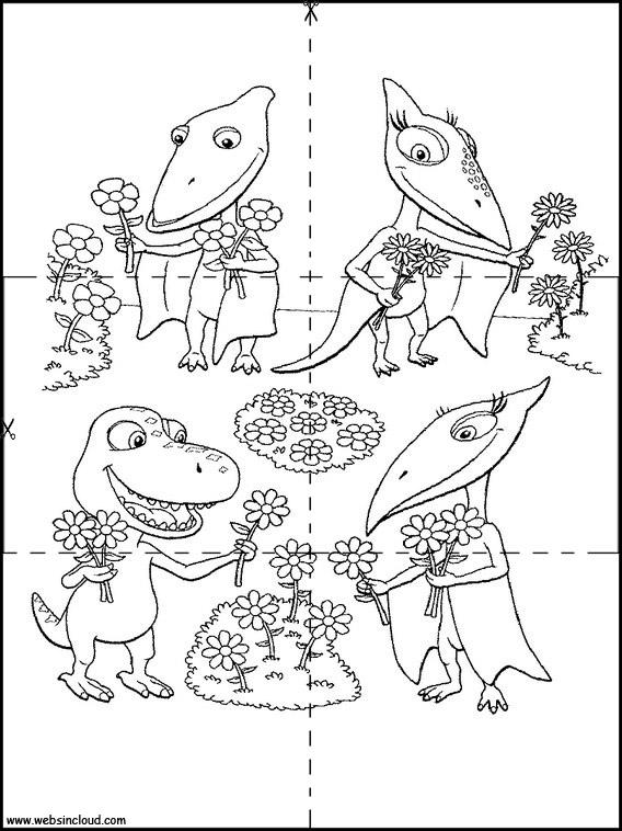 Berühmt Dinosaurier Zug Malvorlagen Glänzend Zeitgenössisch ...