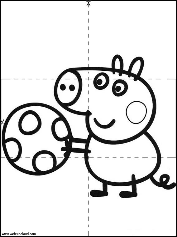Peppa Pig Printable Jigsaw Puzzles To Cut Out 1