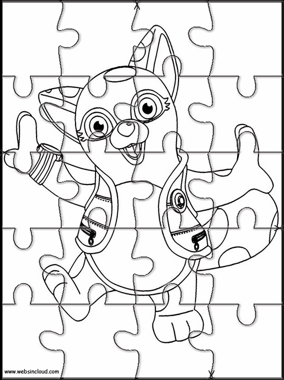 Agente Especial Oso Rompecabezas para imprimir para niños 6
