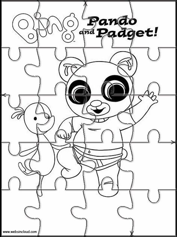 Puzzle Da Stampare Colorare Bing Bunny 5