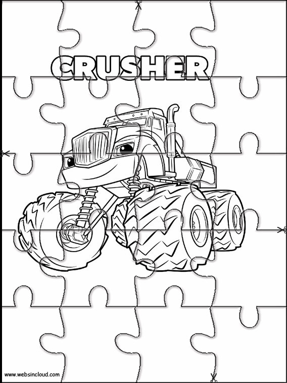 Puzzle per bambini blaze e le mega macchine 3 for Blaze e le mega macchine da colorare
