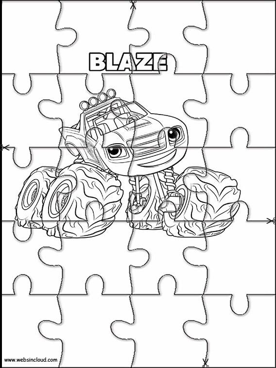 Puzzle da stampare blaze e le mega macchine 8 for Blaze e le mega macchine da colorare