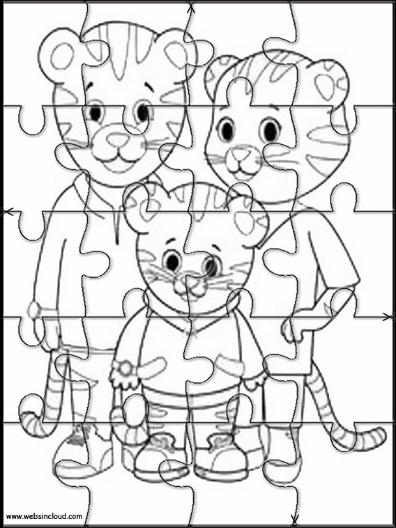 image relating to Daniel Tiger Printable referred to as Daniel Tiger Printable Jigsaw 2