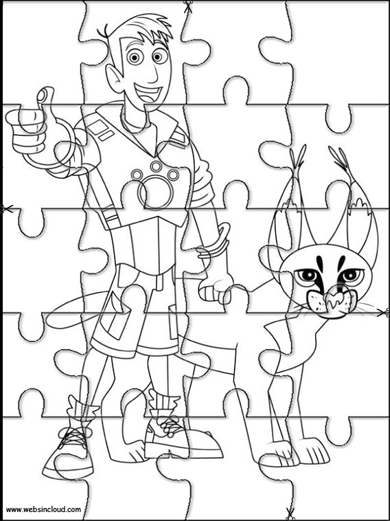 Puzzle Da Stampare Per Bambini Wild Kratts 1