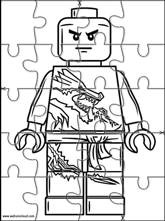 lego ninjago puzzle to cut out 11