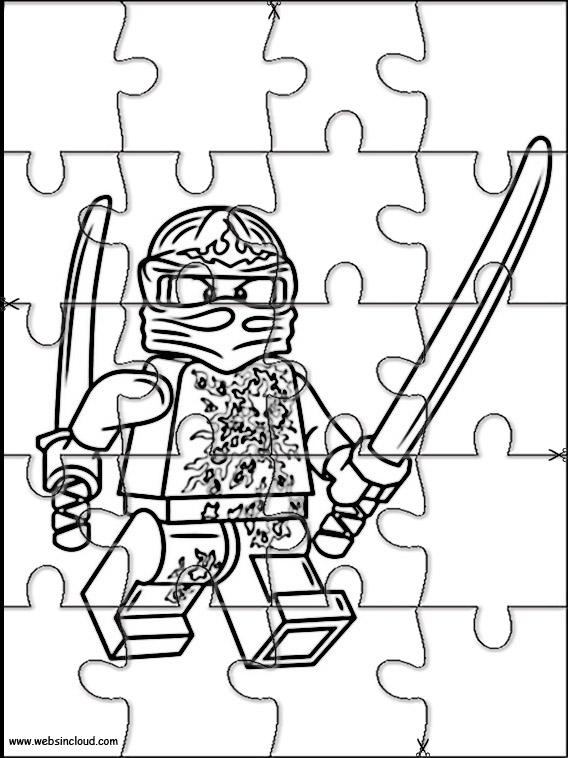 lego ninjago jigsaw to cut out 4