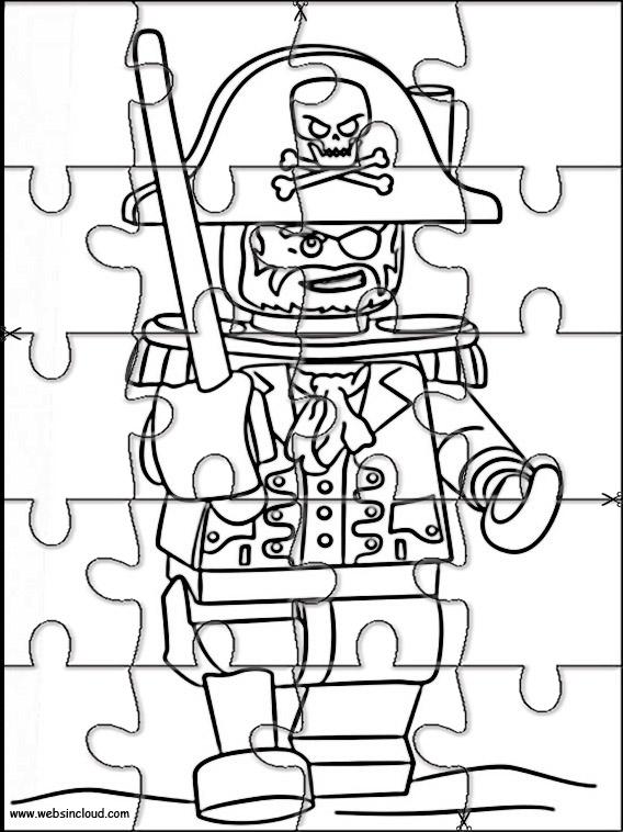 Puzzle Da Stampare Per Bambini Lego Pirati 1