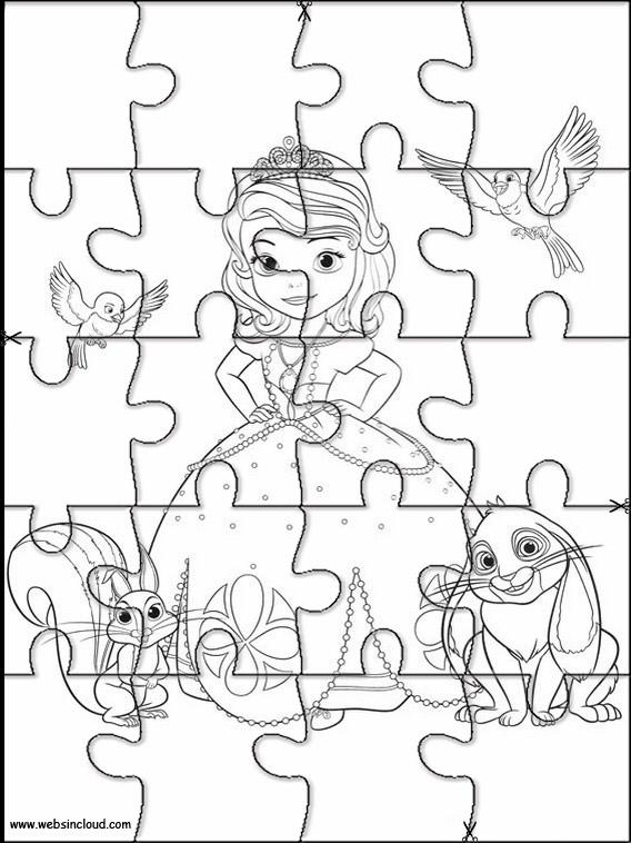 Actividades Rompecabezas Recortables Para Niños Princesa Sofia 4