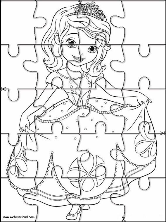 Princesa Sofia Puzzles recortables para imprimir para niños 5