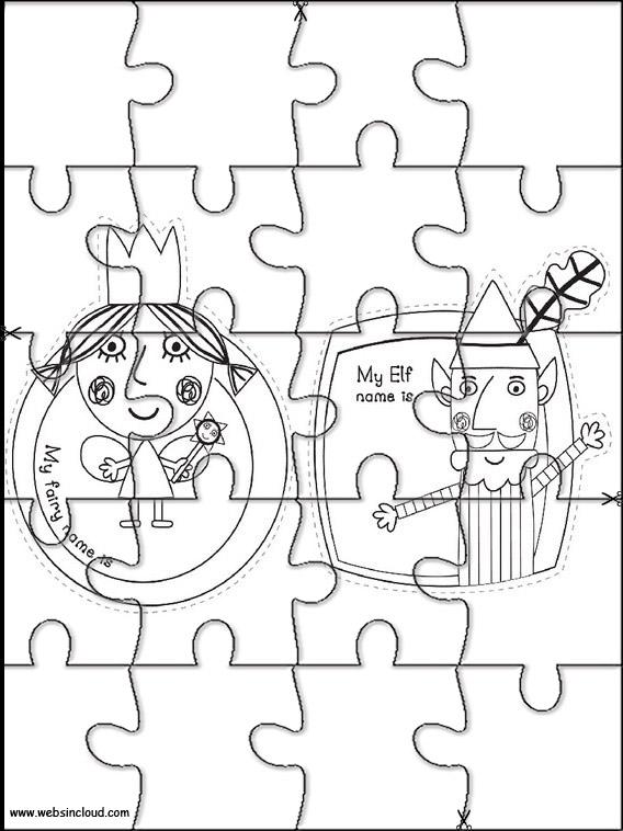 El pequeño reino de Ben y Holly Puzzles recortables para niños 1