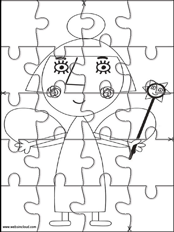 El pequeño reino de Ben y Holly Puzzles recortables para niños 10