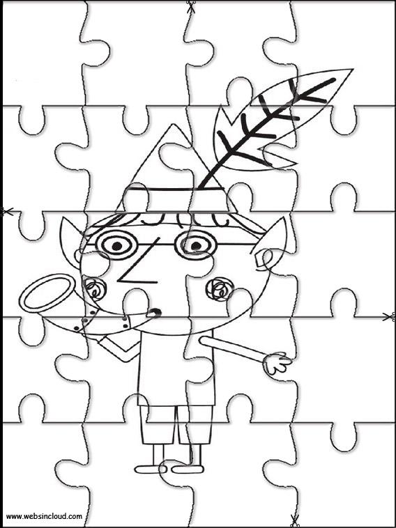 El pequeño reino de Ben y Holly Puzzles recortables para niños 11