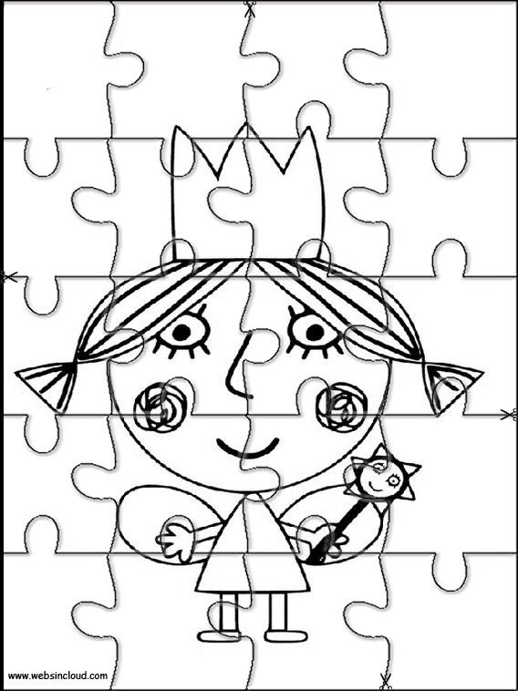 El pequeño reino de Ben y Holly Puzzles recortables para niños 12