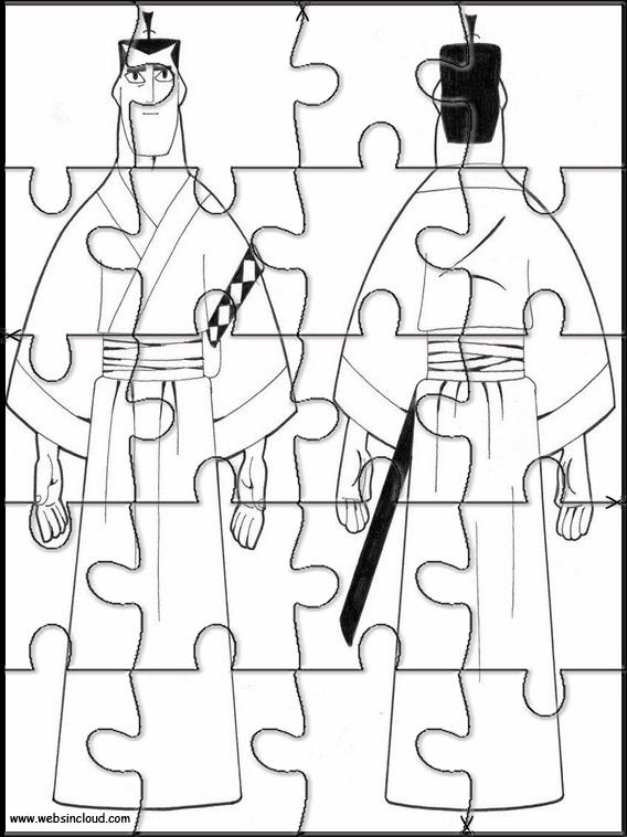 Quebra Cabecas Para Impressao Samurai Jack 1