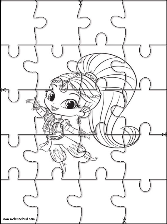 Puzzle Da Stampare Colorare Shimmer E Shine 11