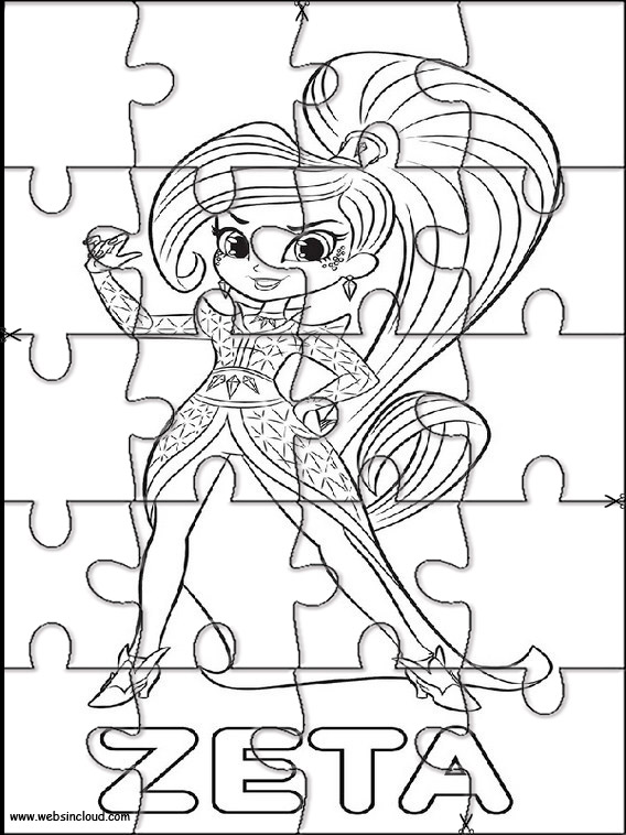 Shimmer y shine puzzles recortables para ni os 5 for Shimmer and shine da colorare