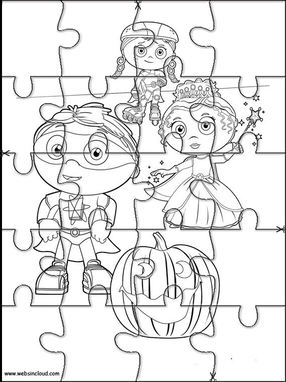 image relating to Super Why Printable named Tremendous Why Puzzle in the direction of reduce out 5