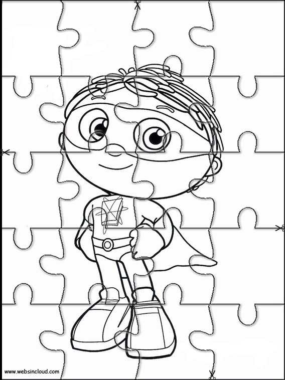 graphic regarding Super Why Printable titled Tremendous Why Printable Jigsaw 8