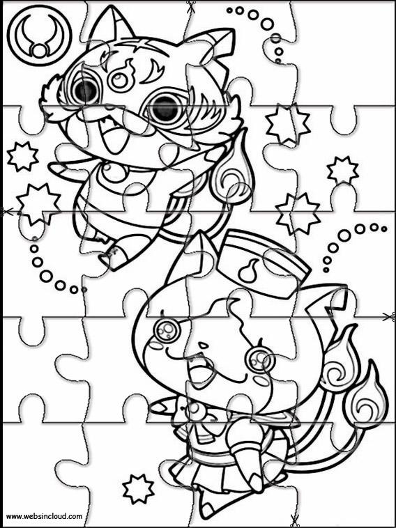 Yo Kai Watch Puzzle Zum Ausdraken 1