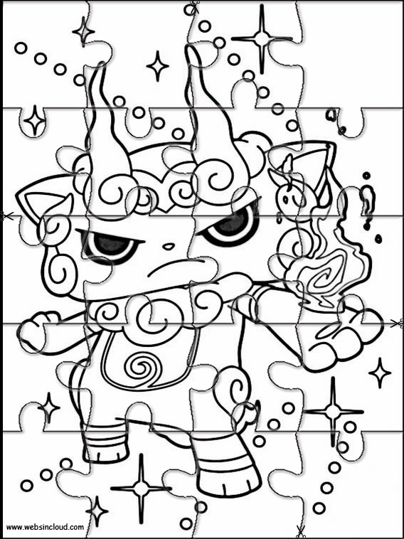 Puzzle yo kai watch 2 - Coloriage puzzle ...