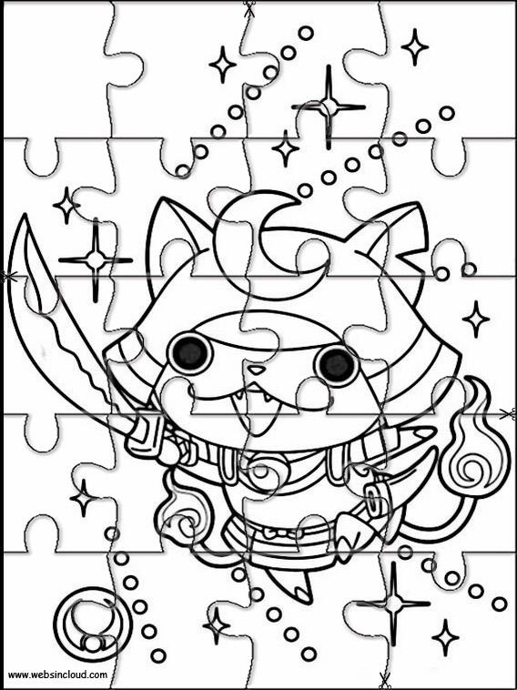 Yo-Kai Watch Printable Jigsaw Puzzles to cut out 7