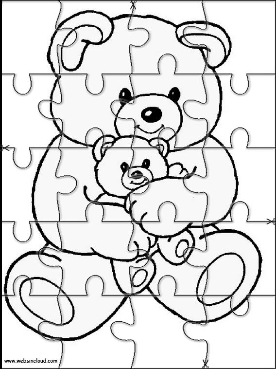 Animals puzzle to cut out 11 for Puzzle cut out template