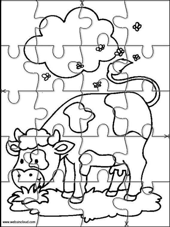 Animales Puzzles recortables para imprimir para niños 12