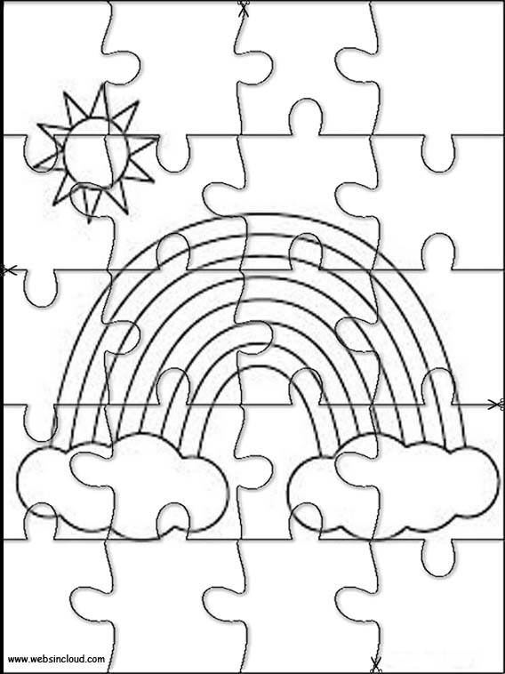 rainbow coloring pages 10 rows - photo#41