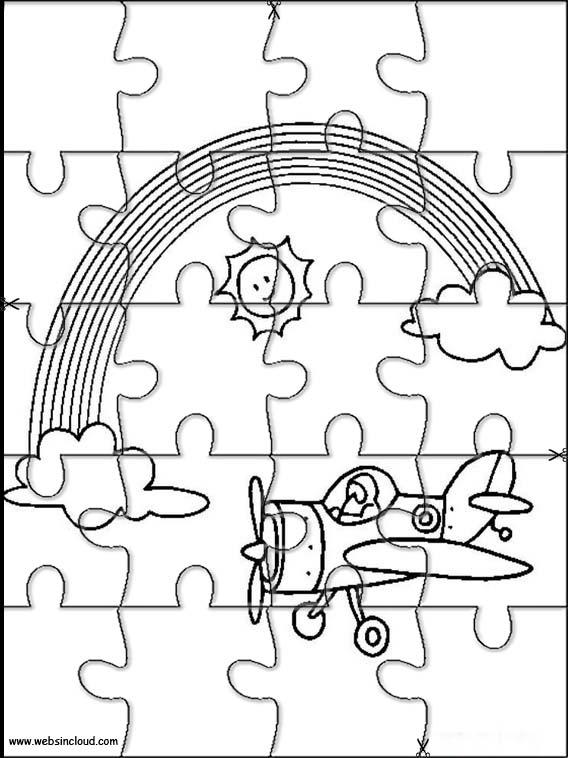 Puzzle Da Stampare Colorare Arcobaleno 5