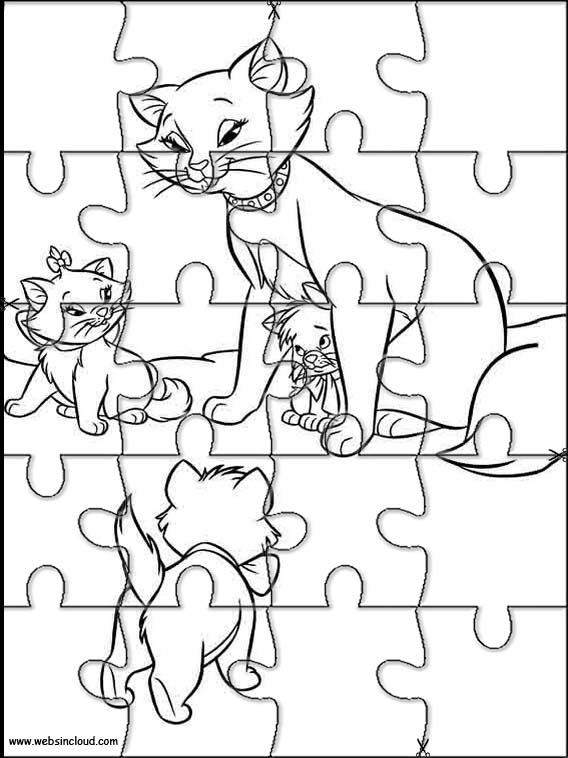 Imrpimir actividades puzzles rompecabezas Aristogatos 6
