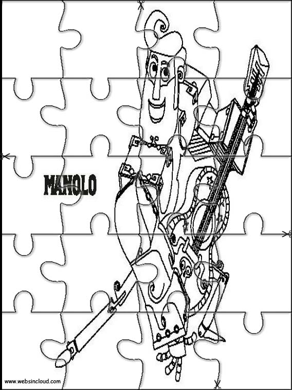 coloring pages book of life - the book of life printable jigsaw puzzles to cut out 1
