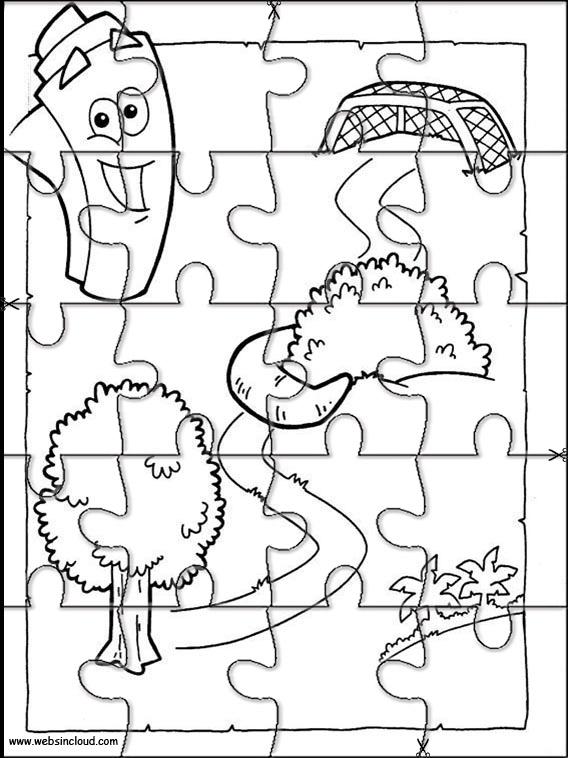 Dora the Explorer Printable Puzzle 177