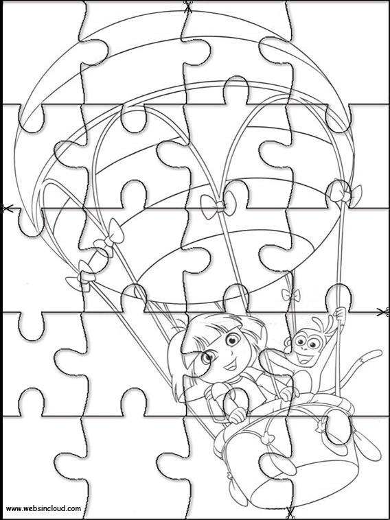 Dora the Explorer Jigsaw to cut out 52