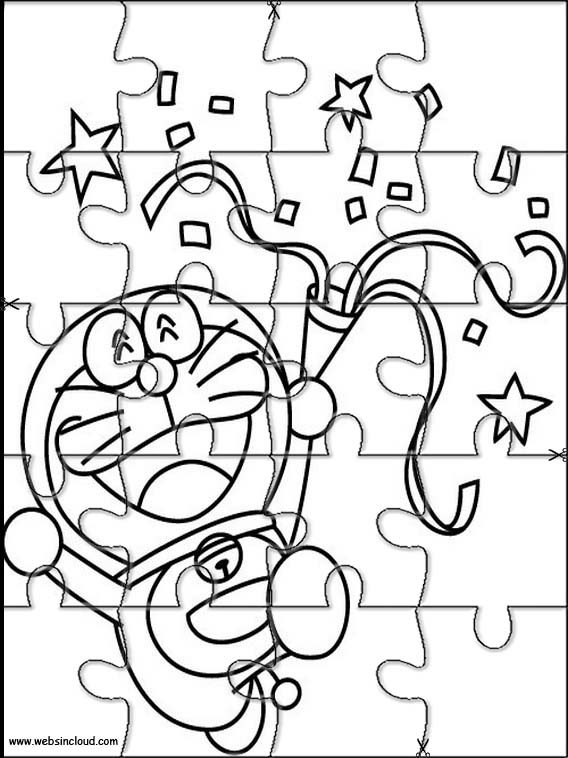 Puzzles Rompecabezas recortables para imprimir para nios Doraemon 3