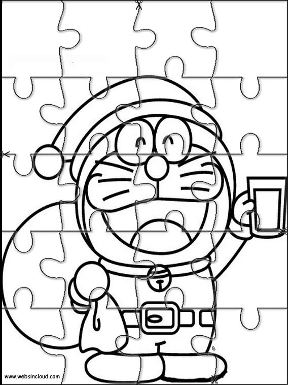 Puzzles Rompecabezas recortables para imprimir para nios Doraemon 4
