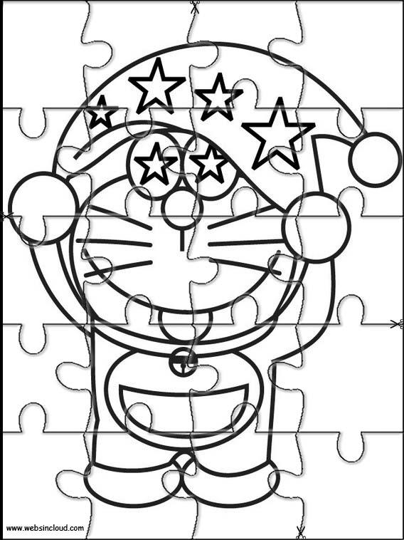 Puzzles Rompecabezas recortables para imprimir para nios Doraemon 5
