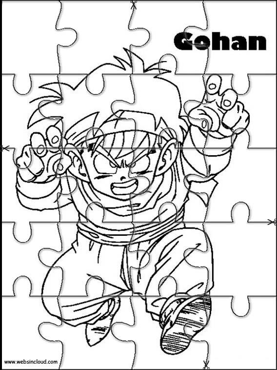 Dragon Ball Z Rompecabezas Para Imprimir Para Niños 56