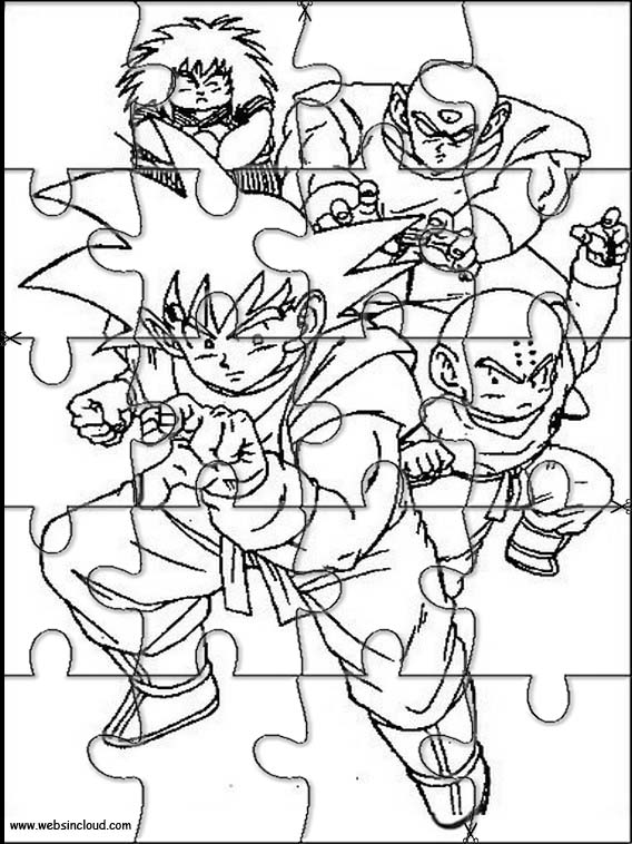 Dragon Ball Z Printable Jigsaw Puzzles To Cut Out 7