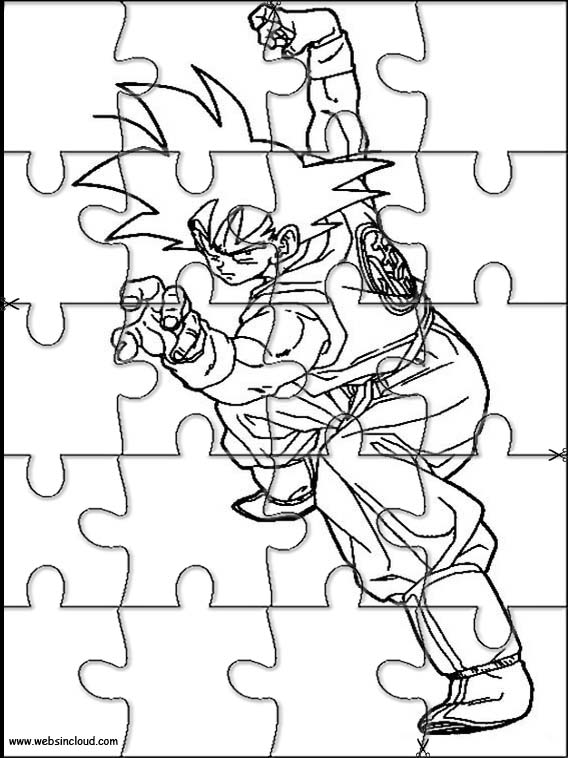 Dragon Ball Z Printable Jigsaw Puzzles to cut out 91