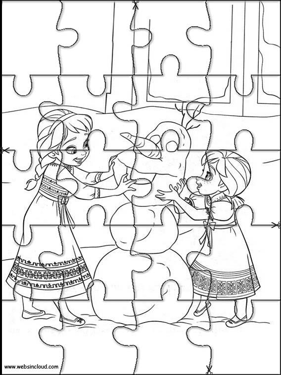 Puzzles Rompecabezas recortables para imprimir para nios Frozen 11