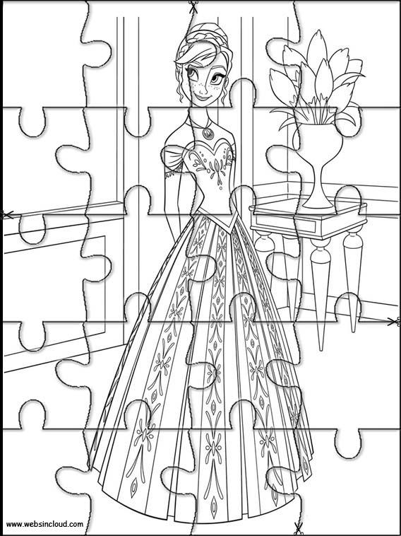Puzzles Rompecabezas recortables para imprimir para nios Frozen 45
