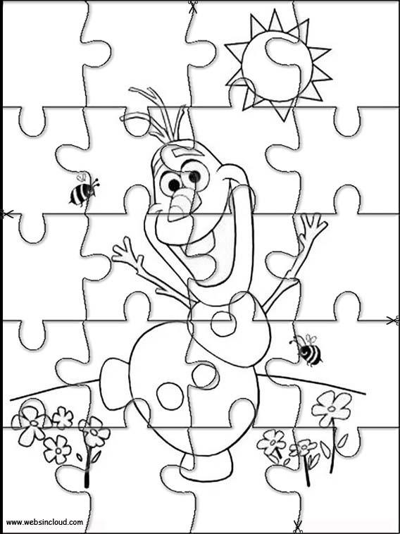 Puzzles Rompecabezas recortables para imprimir para nios Frozen 62