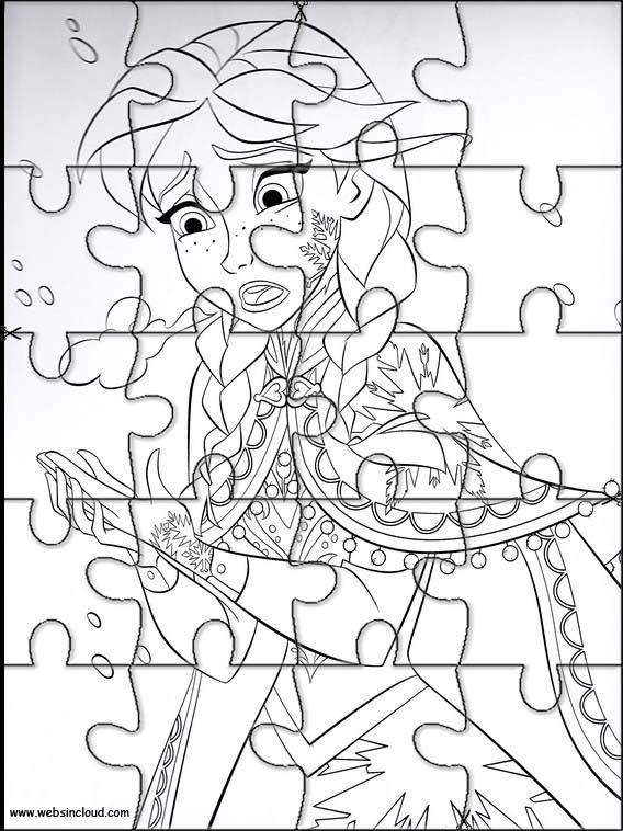 Puzzles Rompecabezas recortables para imprimir para nios Frozen 64