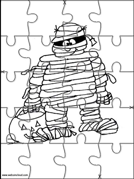 Halloween Puzzle to cut out 11