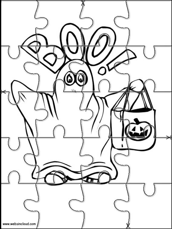 halloween coloring pages and puzzles - photo#10