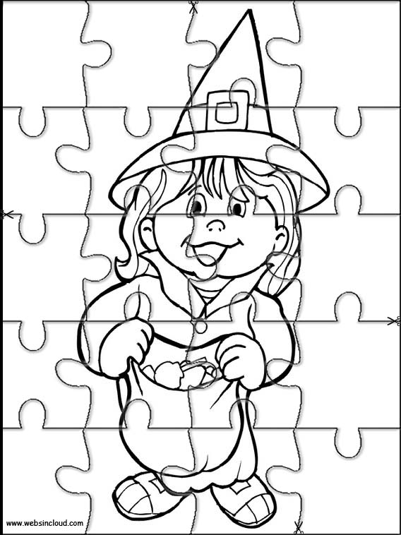 Halloween Puzzle to cut out 5