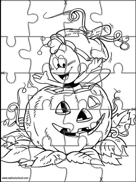 Puzzles recortables para imprimir para niños Halloween 8