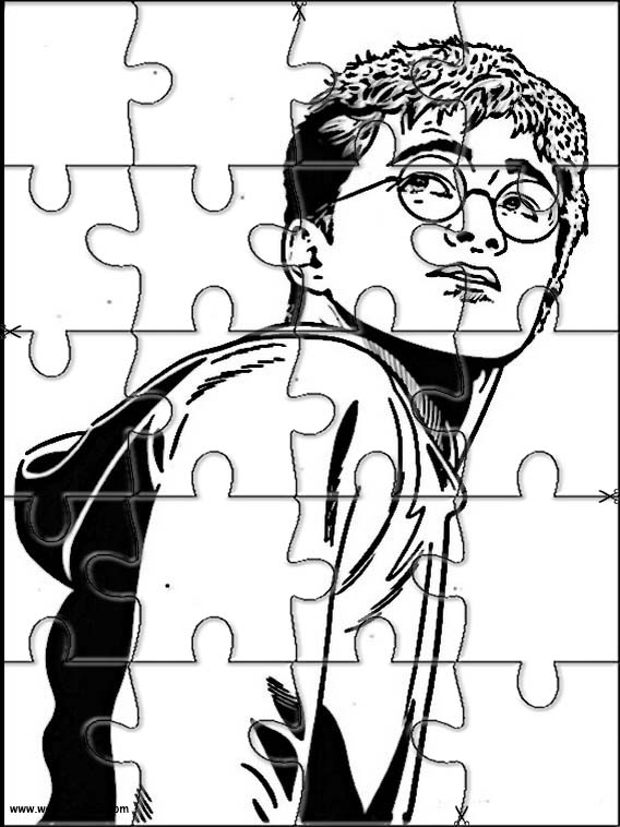 Jeux harry potter puzzle 49 - Coloriage puzzle ...