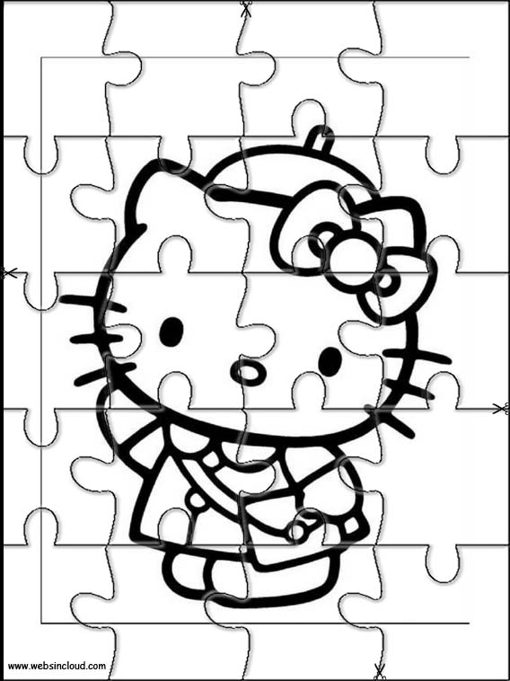 Hello Kitty Printable Puzzle 27